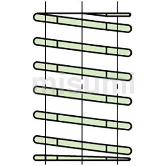 矩形螺旋弹簧 -超大压缩量型 -SWY-