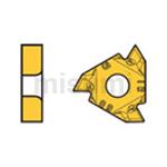 螺纹加工 M级3维断屑槽刀片 内孔用 通用螺纹60°【5个装】