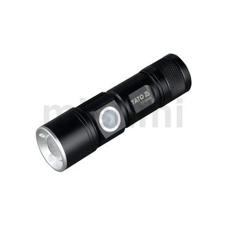 工业级多功能强光可调焦USB充电手电筒